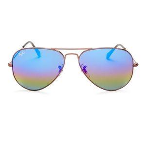 Ray Ban Classic Mirrored Aviator Sunglasses